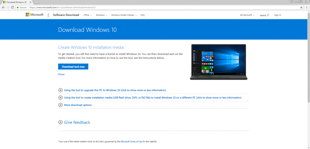 how to download windows 10 free 2018